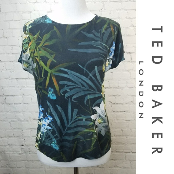 3326552385fedb TED BAKER Floral Butterfly Shirt Blouse. M 5acd94cec9fcdfbbe53bc1be